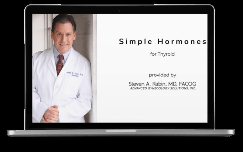 Dr Steven Rabin Simple Hormones for Thyroid