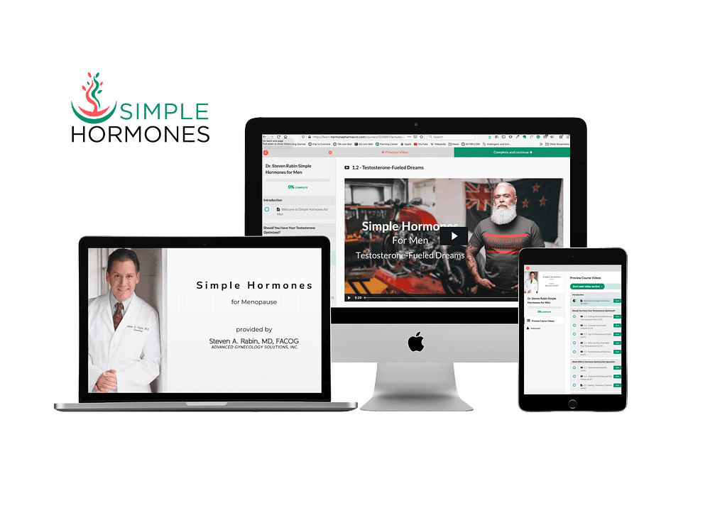 Dr Steven Rabin Simple Hormones patient education portal